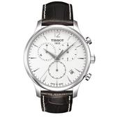 TISSOT 天梭 三眼計時石英手錶 T0636171603700 白面/42mm