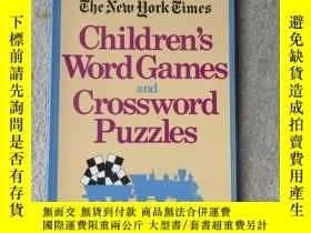 二手書博民逛書店Children s罕見Word Games and Cross