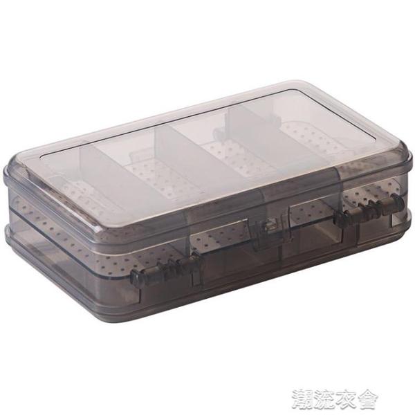 帶蓋雙層首飾盒塑膠透明耳環儲物盒飾品小盒子收納盒飾品盒3個裝【快速出貨】