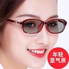 變色眼鏡女士潮防紫外線防藍光近視眼鏡平光無度數全框變色太陽鏡