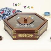 實木堅果盤客廳干果收納盒喜糖結婚瓜子果盒木質分格帶蓋創意中式 YYJ SUPER SALE 快速出貨