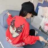 外套 女童棒球服外套秋裝韓版春秋童裝兒童大童洋氣上衣夾克潮【小天使】