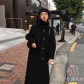 大衣外套女韓版寬鬆顯瘦百搭中長款大衣【少女顏究院】