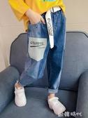 女童牛仔褲春秋韓版潮休閒褲春款女大童兒童洋氣寬鬆褲子 ◣歐韓時代◥