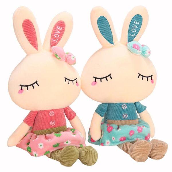 可愛兔子毛絨玩具女生小白兔布娃娃玩偶抱枕兒童公仔女孩生日禮物  巴黎街頭