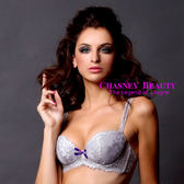 Chasney Beauty-flower girl蕾絲D內衣(雅灰)
