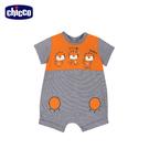 chicco-陽光動物-細條紋短袖兔裝-小虎