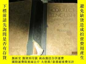 二手書博民逛書店CORRECT罕見ENGLISH FIRST COURSE TANNERY14158 外文書 外文書