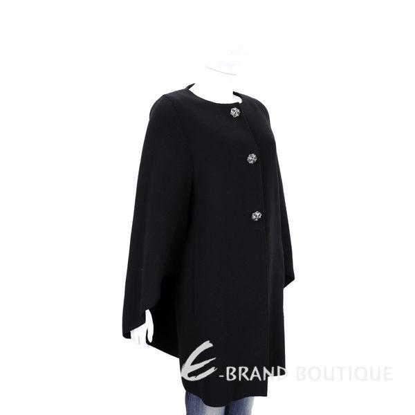 ALBERTA FERRETTI 黑色雕花鑽釦造型袖外套 1540124-01