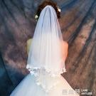 婚紗頭紗女新娘頭紗頭飾超仙短款網紅拍照森系復古新款韓式結婚禮『快速出貨』