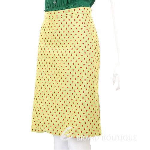 MOSCHINO 紅色點點及膝裙(芥茉黃色) 0910361-08