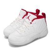 Nike Jordan 12 Retro TD 白 紅 童鞋 小童鞋 籃球鞋 喬丹 【PUMP306】 850000-107