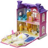 店慶優惠兩天-兒童仿真過家家芭比娃娃房子別墅手工拼裝積木公主城堡女孩玩具屋wy