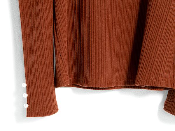 秋冬下殺↘5折[H2O]小露肩一字翻領後蝴蝶結裝飾羅紋針織上衣 - 紅/黑/駝色 #9631016