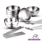 【優多生活】義大利MamaCook 食在安心頂級316全不鏽鋼碗筷勺餐具6套18件組