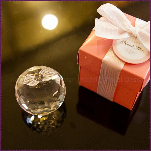 婚禮小物 歐美同步流行-100份 Pink粉紅盒水晶蘋果禮盒-送客/活動禮/來店禮/贈品 幸福朵朵