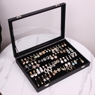 首飾盒 包郵首飾收納盒子耳釘耳環收納整理收藏盒大展示架耳墜飾品珠寶箱【快速出貨八折搶購】