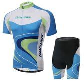 自行車衣-(短袖套裝)-吸濕排汗透氣舒適男單車服套裝73er25【時尚巴黎】