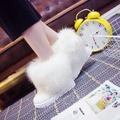 韓版雪地靴 女靴 時尚百搭短筒平底棉鞋 軟妹短靴