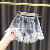 童裝女童牛仔短褲薄2021兒童夏季全棉女孩寶寶短褲外穿洋氣熱褲潮 快速出貨