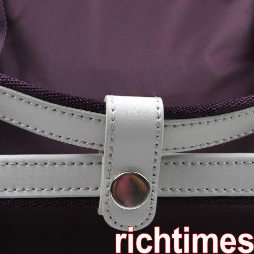 agnes b.抓皺小休閒肩斜背包(紫)AB097110