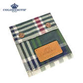 【COLORSMITH】LPC・對折零錢短夾-經典紅格紋・WLLPC2036-CH