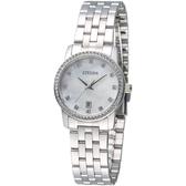 CITIZEN 閃耀年代時尚女錶-珍珠貝母(EU6030-56D)