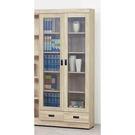 【森可家居】法克橡木2.6尺下抽書櫃 8SB236-4 玻璃書櫥 收納 木紋質感  無印北歐風 MIT台灣製造