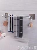 特賣置物架衛生間免打孔毛巾架浴室吸盤毛巾桿廁所毛巾掛架浴巾架毛巾置物架LX