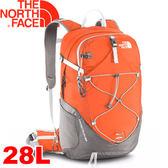 【The North Face 28L 輕量專業登山背包 木瓜橘/鐵銀】A2UB/登山背包/後背包/專業背包★滿額送