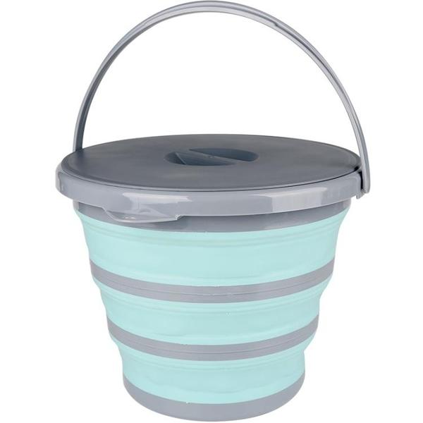 戶外折疊提水桶硅膠便攜式家用清潔大號車用洗車可伸縮釣魚打水桶 8號店WJ