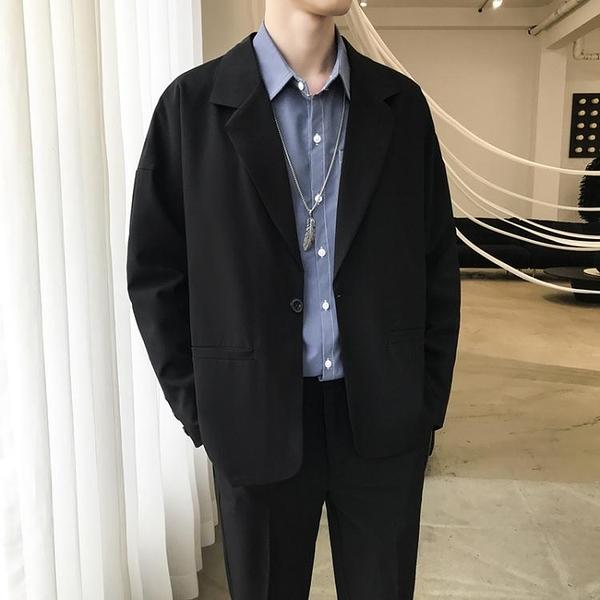 ins外套男春季港風潮流韓版小西裝新款男士學生上衣寬鬆西服 雙十二全館免運