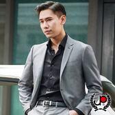 極品西服 質男簡約彈力提花西裝外套_黑(AW752-3G)