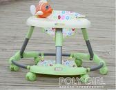 學步車  嬰兒學步車6-7-18個月防側翻帶音樂寶寶助步車折疊兒童腳步車圓形atf  poly girl