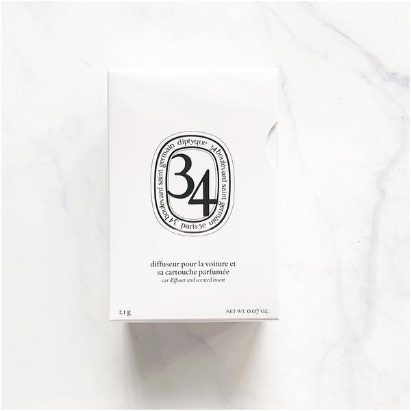 Diptyque 蒂普提克 車用擴香器+香氛補充包(聖日爾曼大道34號/漿果香) 21g【芭樂雞】