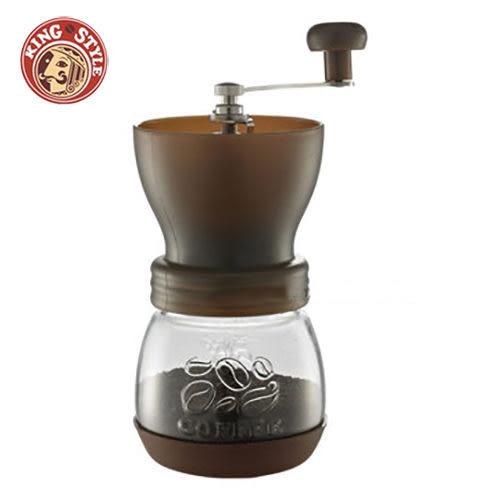 金時代書香咖啡 Tiamo 密封罐陶瓷 手搖磨豆機 雕花密封罐設計 咖啡色