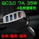 【四孔車充】QC3.0 7A 35W 12V~24通用款 快速車充/安全保護/電源適配器-ZY