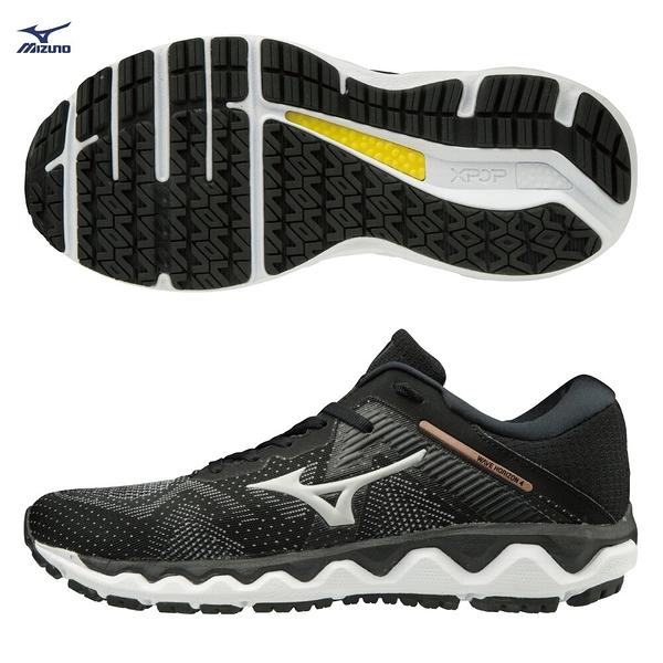 MIZUNO WAVE HORIZON 4 女鞋 慢跑 路跑 支撐型 耐磨 避震 DROP 10mm 黑【運動世界】J1GD202640