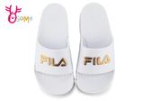 FILA 拖鞋 成人男女款 經典一片托 全防水 運動拖鞋 情侶鞋 D9921#白金◆OSOME奧森鞋業