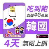 【TPHONE上網專家】韓國 高速上網卡 4天無限上網吃到飽-使用當地SK最大電信基地台
