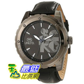[104美國直購] Marc Ecko Men s E12551G1 The RiffGunmetal Stainless Steel and Black Leather Watch