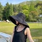 同款日本UVCUT 防曬帽女太陽帽摺疊防紫外線遮陽帽大檐漁夫帽  一米陽光