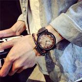 ulzzang風大錶盤手錶女學生正韓簡約潮流休閒大氣復古潮男【快速出貨八折下殺】