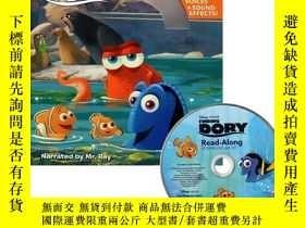二手書博民逛書店英文原版罕見海底總動員2 朗讀書+CD 迪士尼繪本 有聲讀物 Finding Dory (Read-Along S