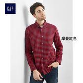 Gap男裝 時尚舒適純棉牛津襯衫 179880-摩登紅色