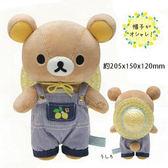 拉拉熊 懶懶熊 SAN-X 毛絨娃娃-20.5公分 檸檬 果園