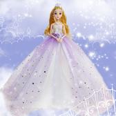 芭比娃娃 新款3D美瞳巴比娃娃套裝婚紗擺件女孩公主大禮盒玩具婚紗洋娃娃JY【快速出貨】