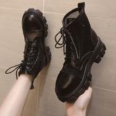 馬丁靴女英倫風夏季薄款百搭涼鞋靴子網紗透氣厚底鏤空短靴機車靴