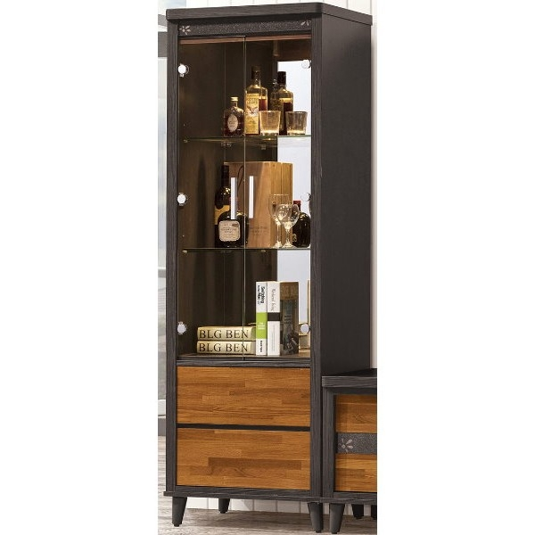 展示櫃 客廳櫃 高低櫃 QW-395-3 貝軒2尺展示櫃【大眾家居舘】