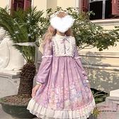 lolita可愛日系洛麗塔op長袖連身裙女日常【聚可愛】